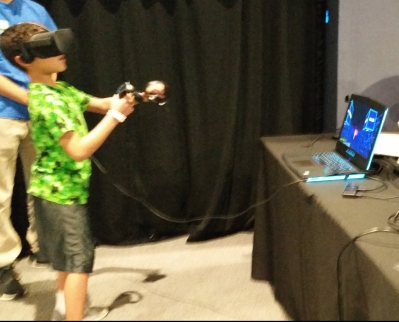 Boy playing ELLE VR